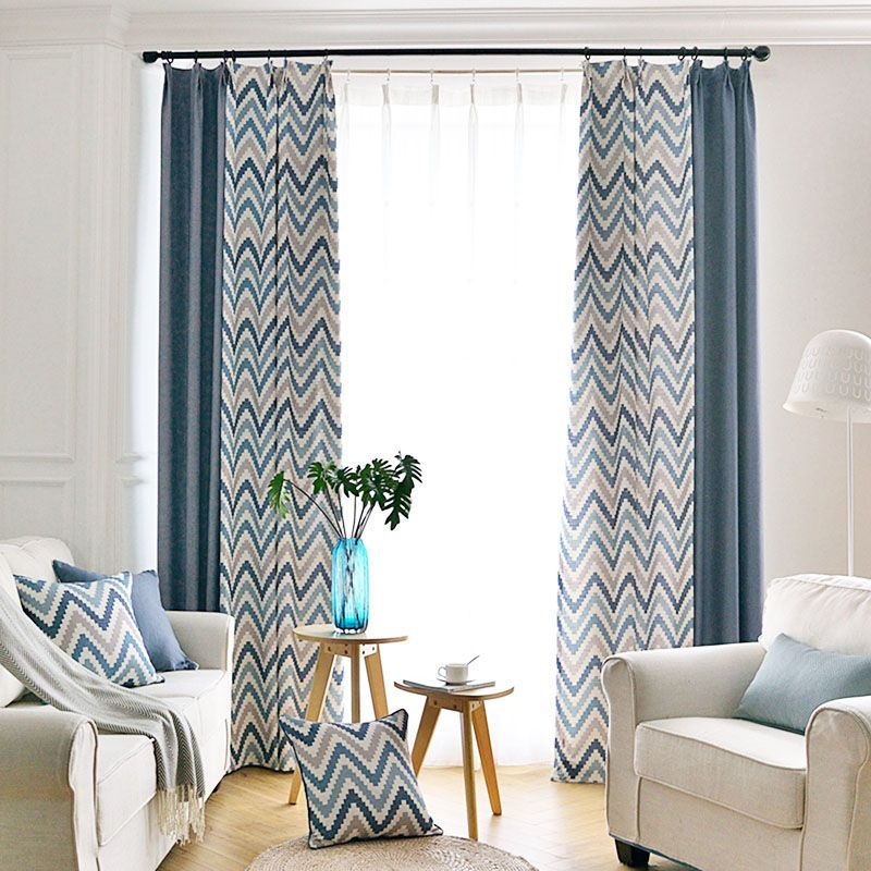 Modern Linen Long Chevron Curtains for Bedroom in 2020