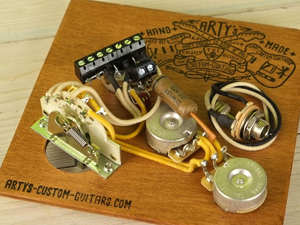 Solderless Strat Wiring Harness Electrical Diagrams Stratocaster Artys Custom Guitars Vintage Prewired Kit Ltfrei Kein 7 Way Diagram