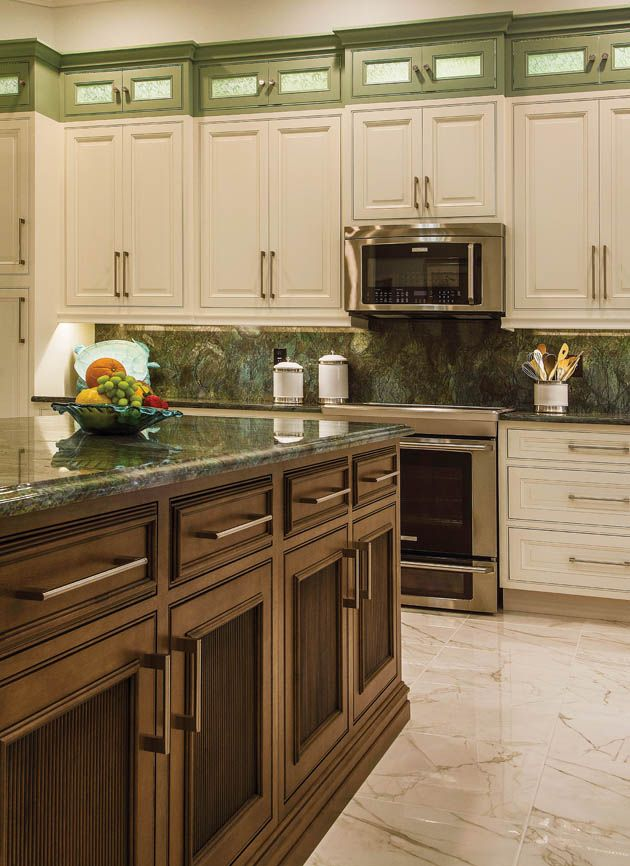 Charming Kitchen | Kitchen Design | Countertops | Lighting | Tile | Housetrends |  Tampa | Island