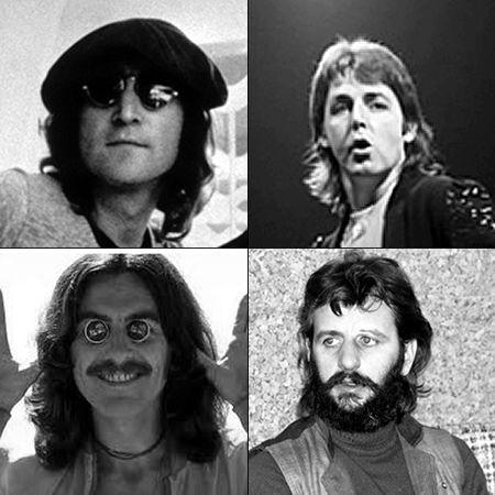 Clockwise From Upper Left John Lennon Paul McCartney Ringo Starr And George Harrison