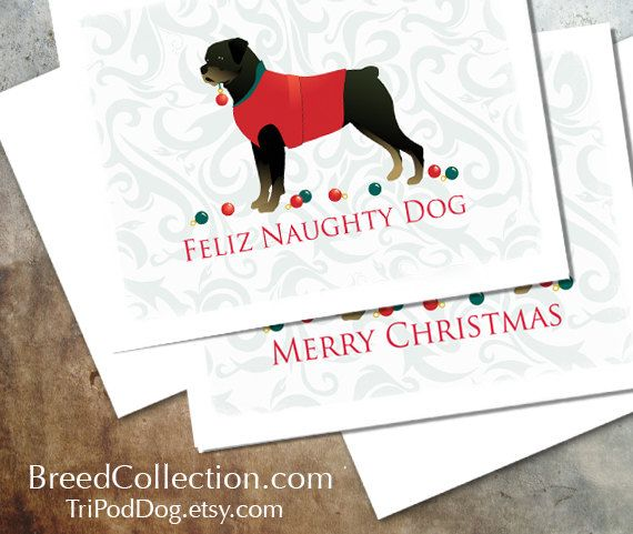 Rottweiler Dog Christmas Cards from the Breed Collection - Digital