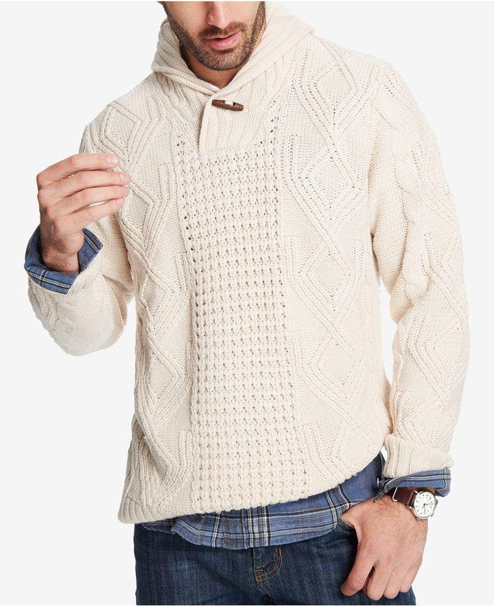 2414c673008b49 Weatherproof Vintage Men's Fisherman Shawl-Collar Sweater | Products ...
