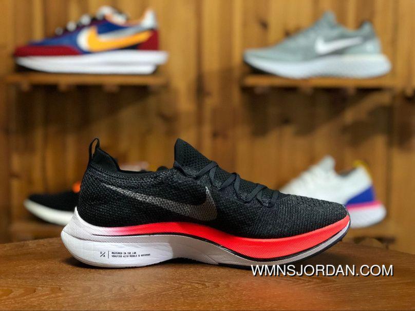 10a634a8a7e Women Men Nike Zoom React Vaporfly 4% Flyknit Blue Fox Black-Bright Crimson  AJ3857-400 Unisex Running Shoes Free Shipping