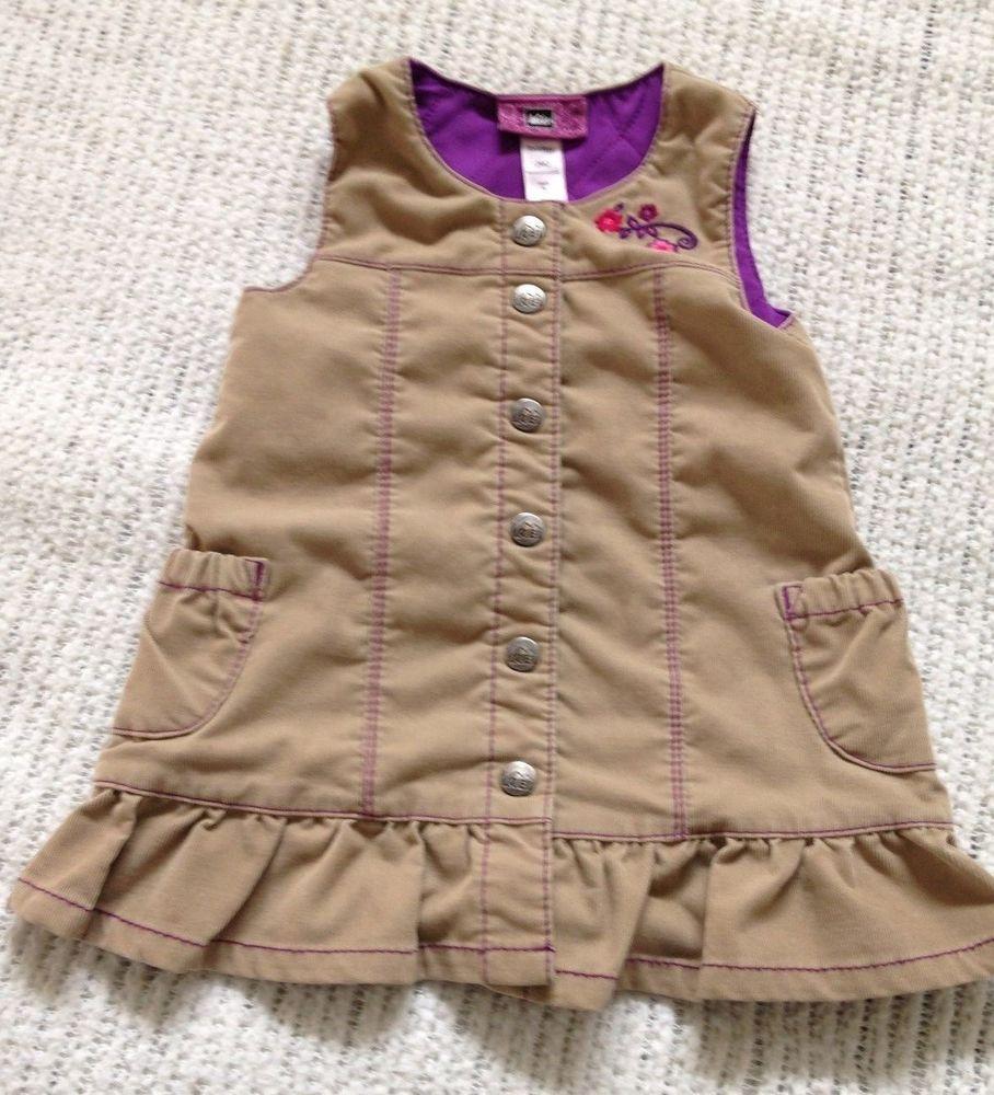 4544068cd405 REI Girls Beige Corduroy Jumper embroidered snaps - size 12 months ...