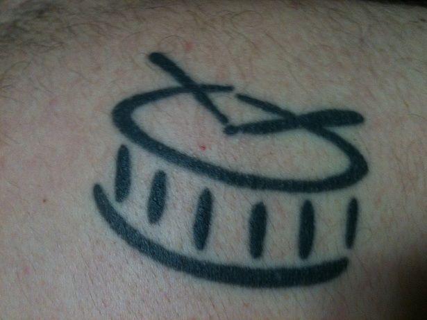 Sweet Little Drum Tattoo
