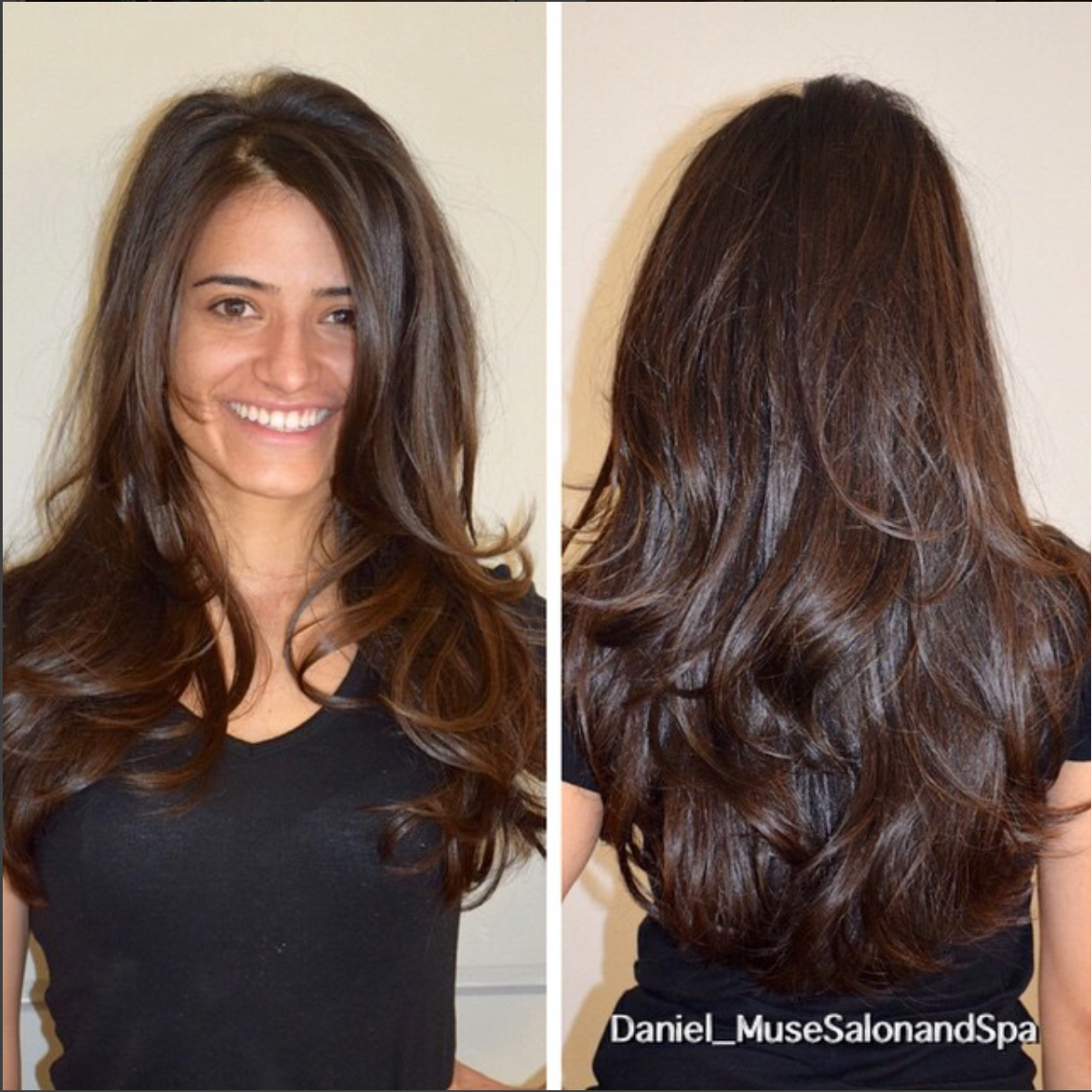 lots of movement in thick hair. i created a long layered #haircut