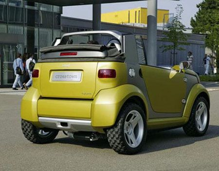 Smart Crosstown Hybrid Fortwo Car Custom Cars Concept Automobile