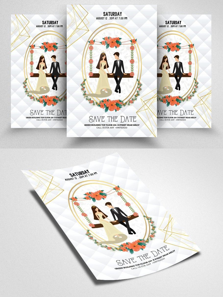 Save The Date Flyer Template Flyer Flyer Template Wedding Templates Save the date flyer template