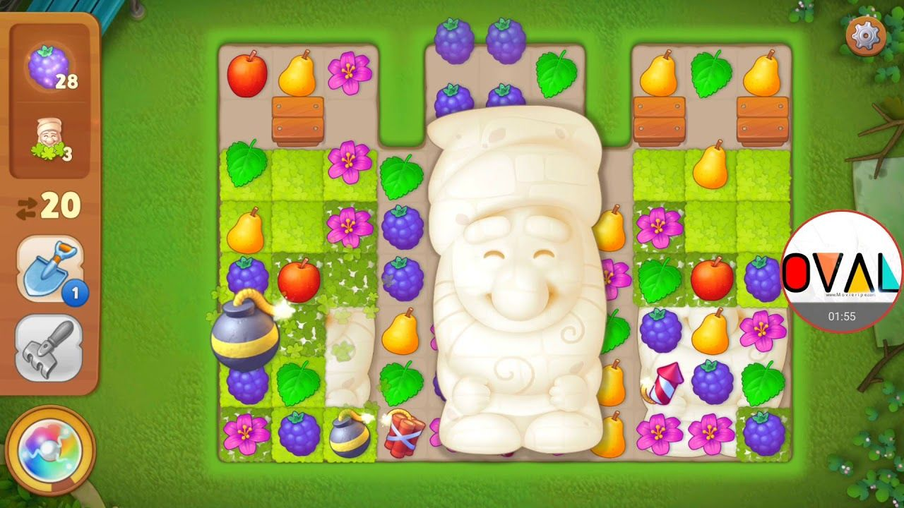 Gardenscapes Level 16 Berries   OVAL PEGI 3 Genre: Casual . Gardenscapes  Level 16 Berries   OVAL #Gardenscapes Exploding Fun #Levels Colourful  Flowers ...