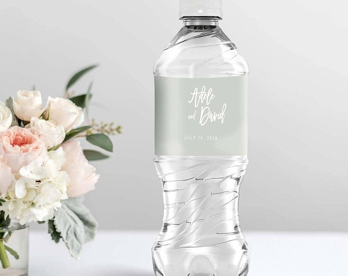 Wedding Water Bottle Labels Template Printable Personalized Water
