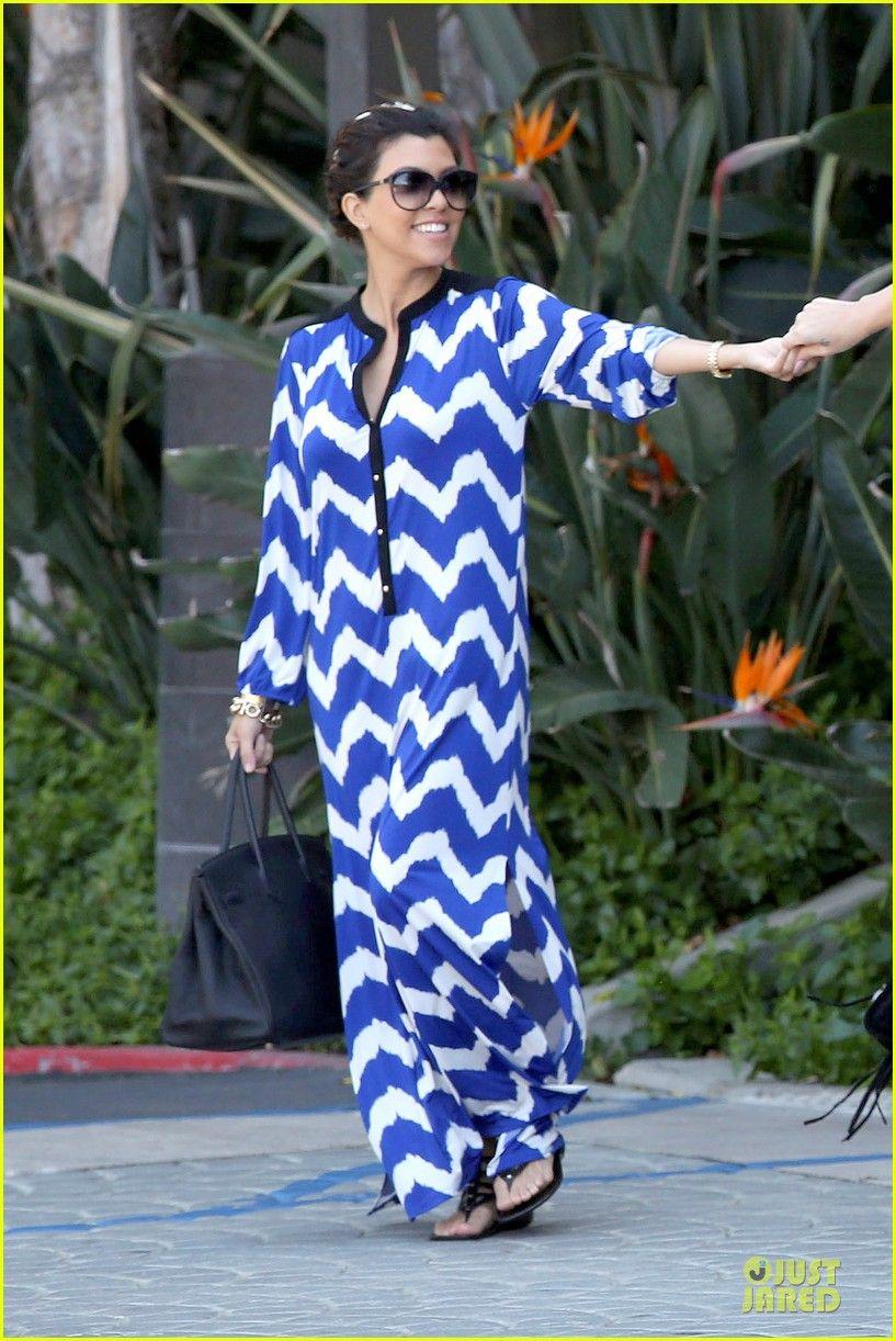 Kourtney Kardashian White Long Maxi Dress