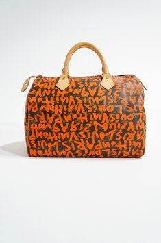 Louis Vuitton Limited Edition Stephen Sprouse Speedy 30 Handbag Monogram Canvas & Graffiti Orange Bag - Satchel $1,500