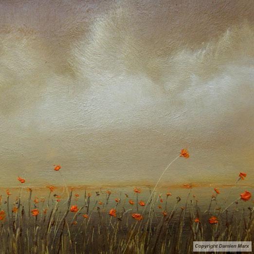 Tableau peinture contemporaine paysage abstrait floral for Tableau peinture contemporain