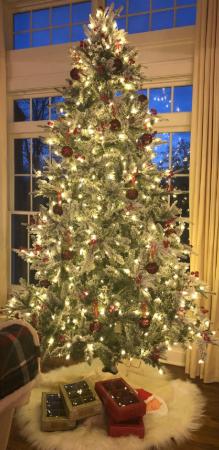Lordofxmas Artificial Christmas Trees 9 Feet Prelit With Led Lights Pine Needles Pre Lit Christmas Tree Christmas Tree Tree