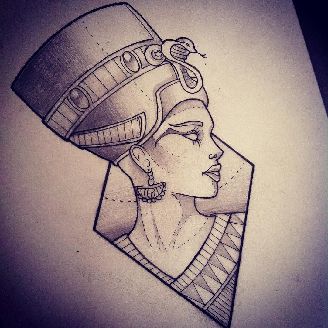 Queen Nefertiti Tattoo: Pinterest @Cravingshay