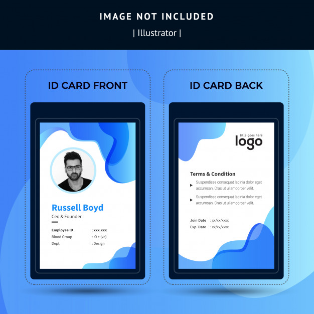 Business Id Card Template Id Card Template Card Template Cards