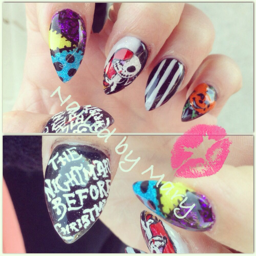 Magnificent Nightmare Before Christmas Stiletto Nails Ensign - Nail ...