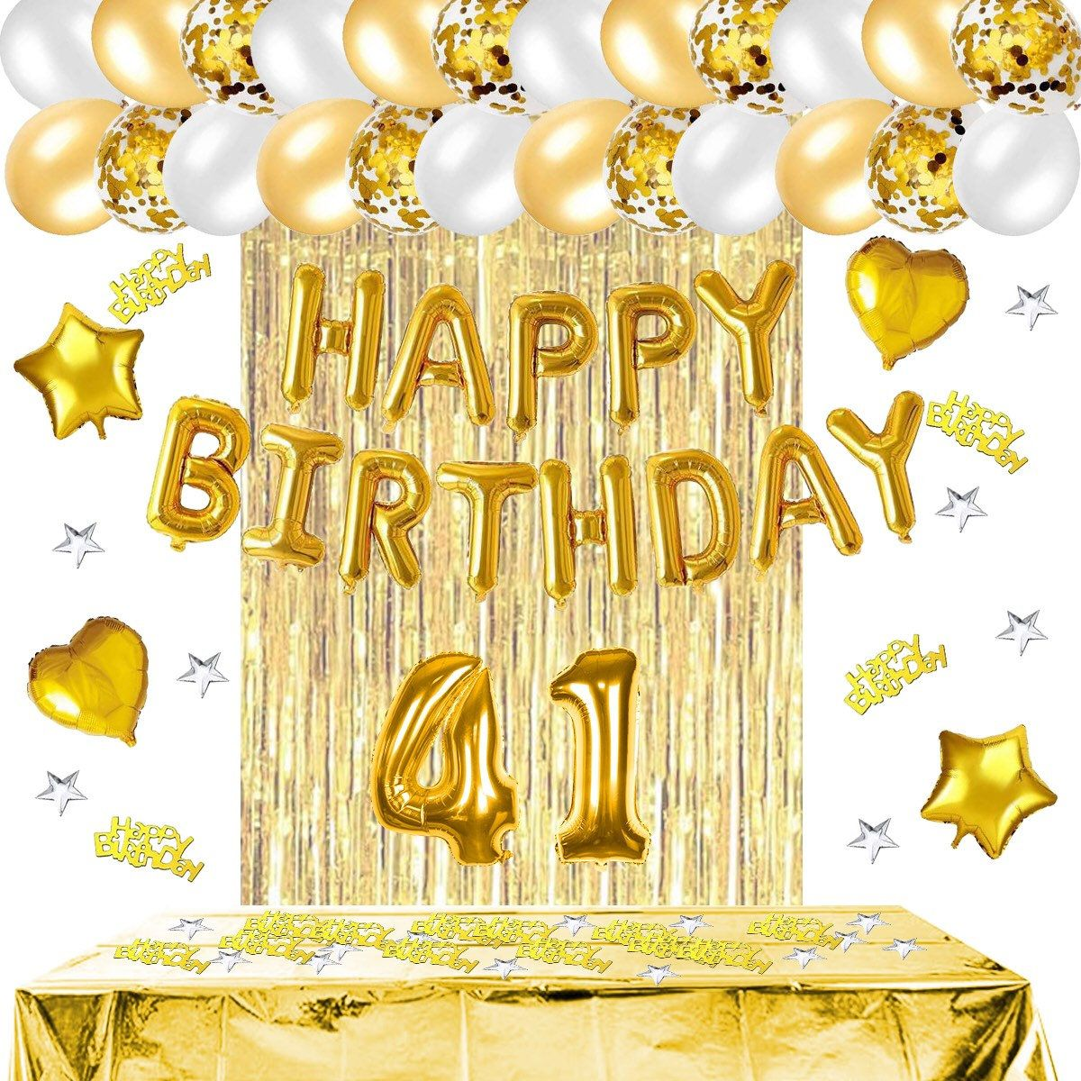 49th Birthday//49th Balloon Party Decorations Supplies Rose Gold Glitter Happy 49th Birthday Cake Topper Hello 49//Cheers To 49 Years