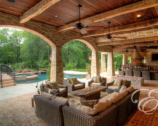 Tuscan Farmhouse.. What a view inside and out.. | Outdoor ... on Farmhouse Outdoor Living Space id=89793