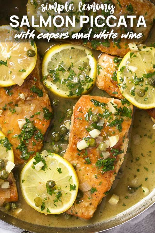 Photo of Salmon Piccata with Lemon and Capers – Just a Little Bit of Bacon