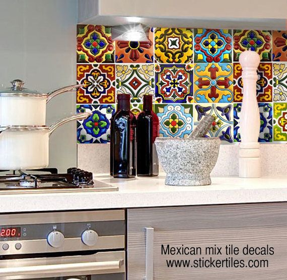 Mexican tile vinyl decals from Snazzy Decals are the perfect way to
