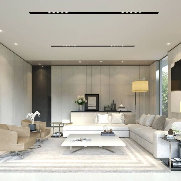 Pin By Divya Dubey On Drawing Living Room: ภาพ 3D Perspective Interior