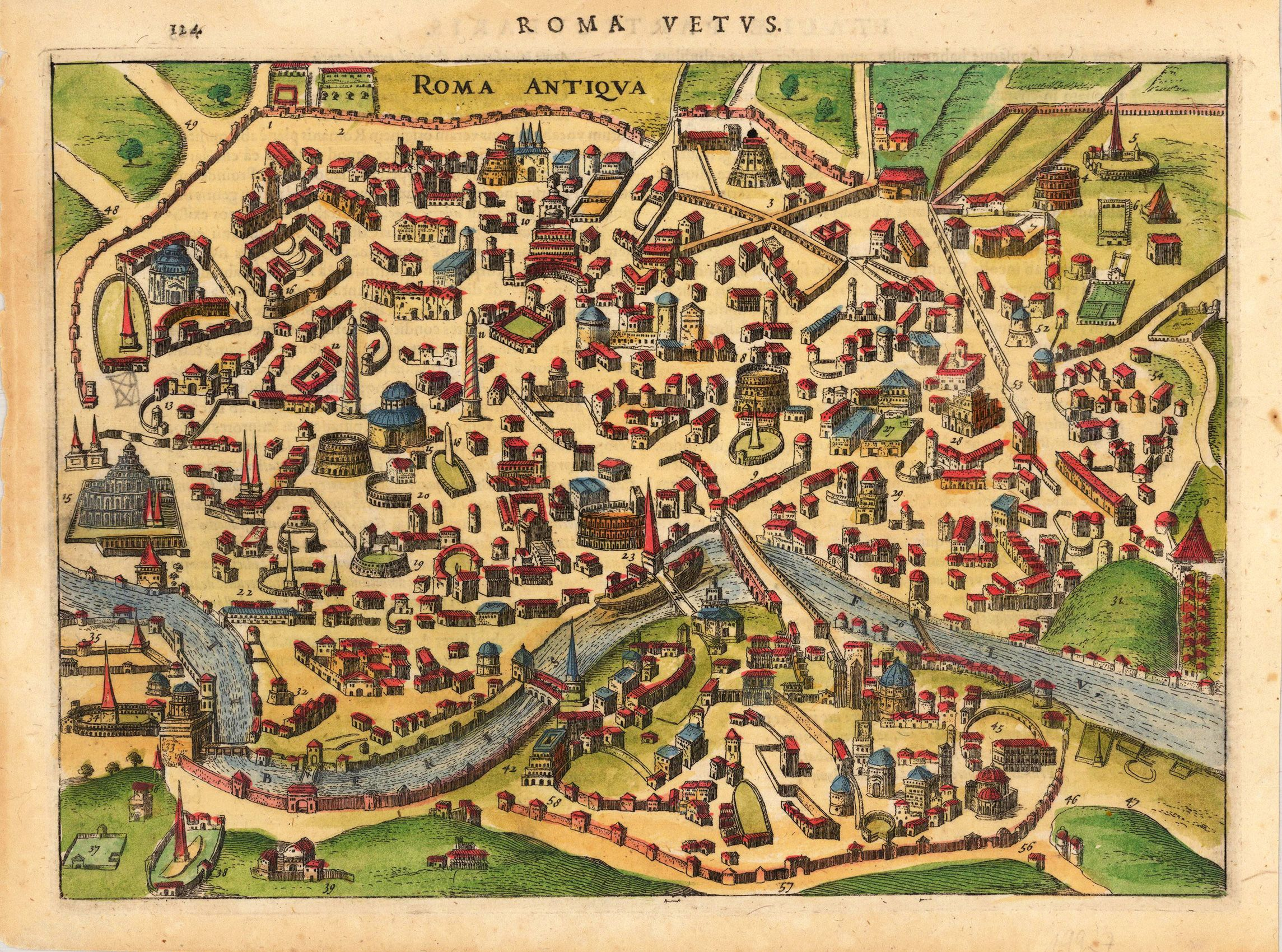 ancient rome city map pdf