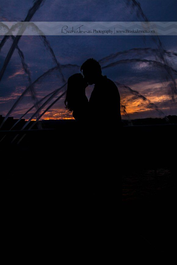 I LOVE Sunsets AND Silhouettes!  Downtown Chattanooga, TN on the waterfront.  BraskaJennea Photography