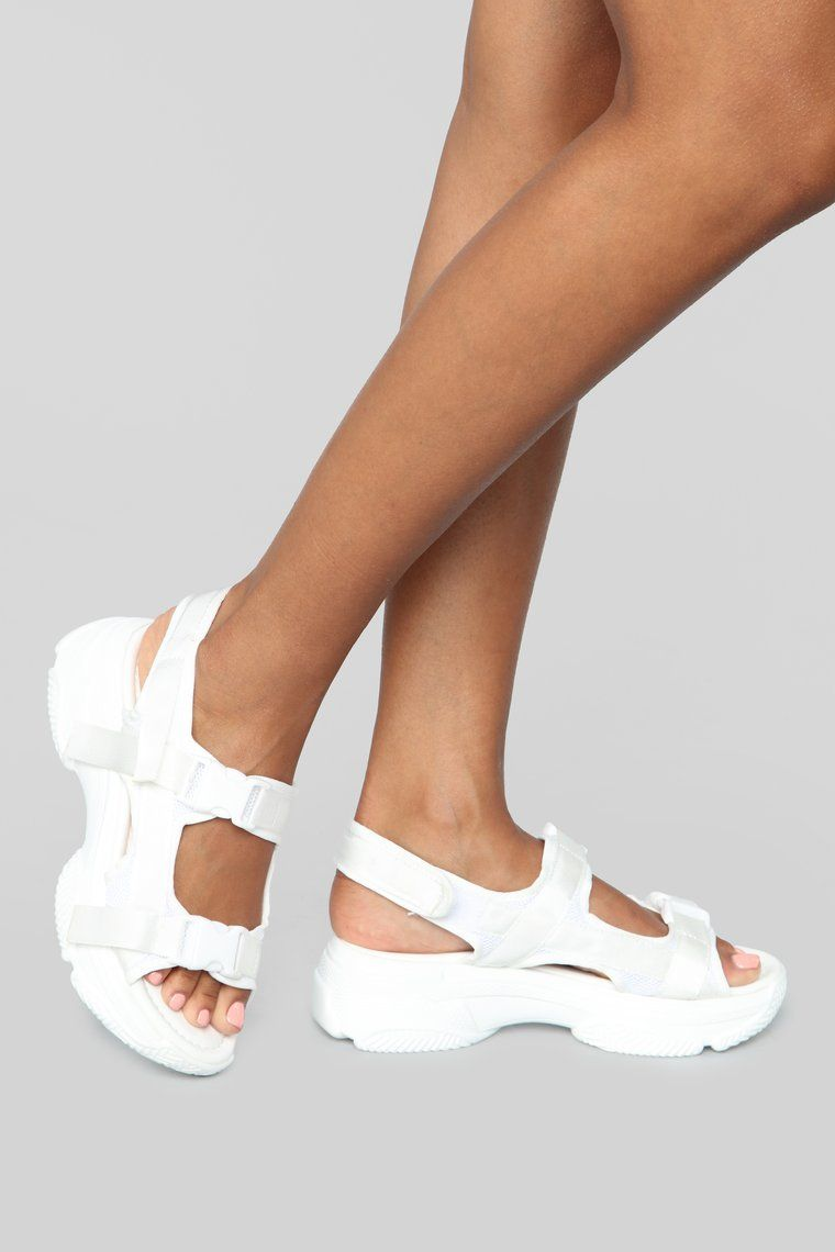 No Exceptions Flat Sandals White Chic Shoes Flat Sandals Flat Sandals
