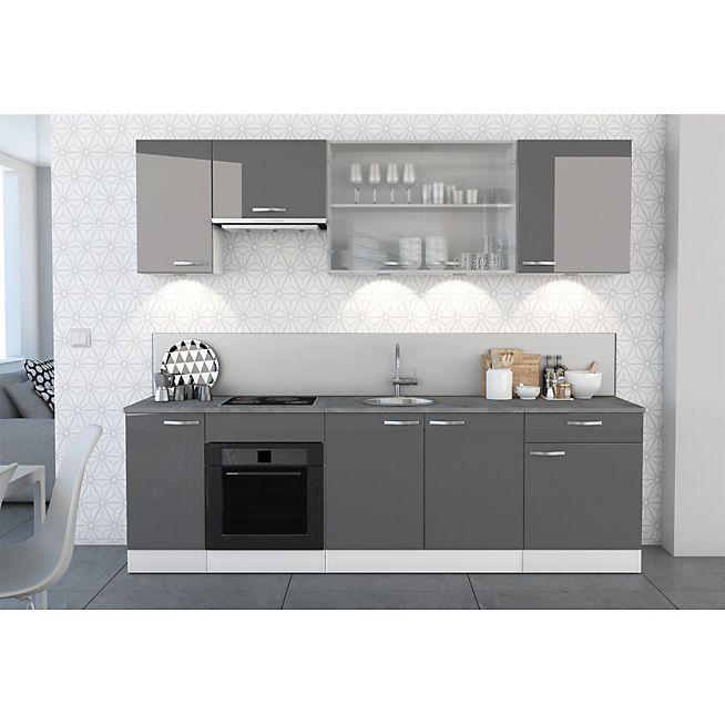 Elite grise Gamme de meubles de cuisine gris laqués | cuisine ...