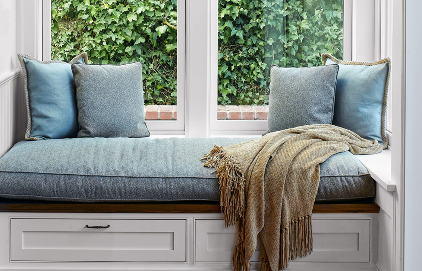 build a custom look window seat using stock kitchen cabinets home window benches house on kitchen cabinets around window id=19021