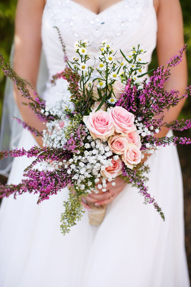 baby breath wedding bouquet pink and baby s breath bridal bouquet 1417
