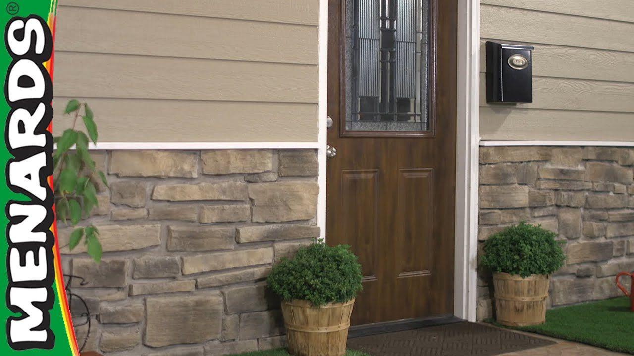 How To Install Stone Veneer Siding Menards Addingstonetohouse Addingbricktoveneersi Stone Veneer Siding Stone Exterior Houses Stone Siding Panels