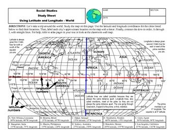 Worksheet Longitude And Latitude Practice Worksheets 1000 images about worksheets for mp maps directions on pinterest map it states and capitals geography