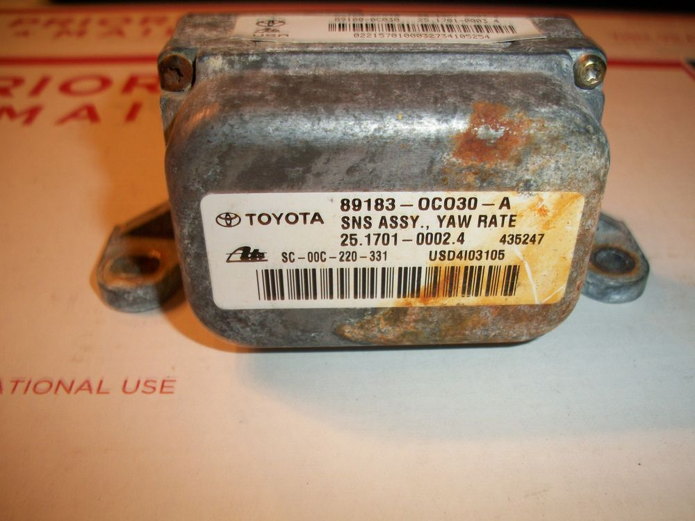 2002 2003 2004 toyota sequoia yaw rate sensor module part number 89183 0c030 toyota sensor sequoia 2002 2003 2004 toyota sequoia yaw rate