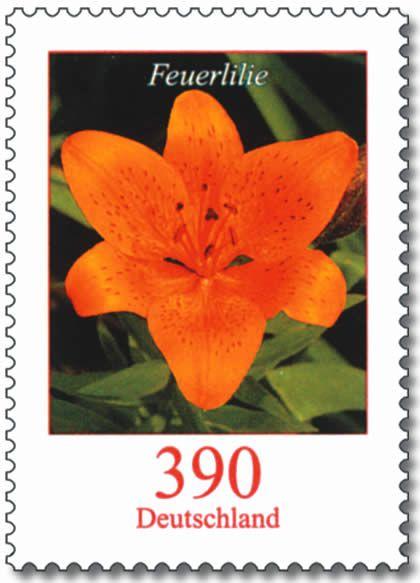 Briefmarken Jahrgang 2006 Der Bundesrepublik Deutschland Briefmarken Deutschland Briefmarken Lilien