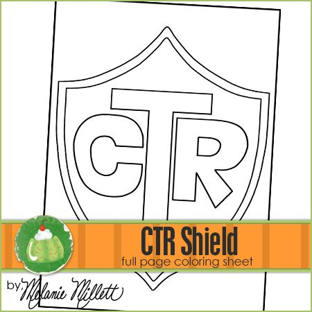 CTR Shield Printable Coloring Page | coloring pages free downloads ...