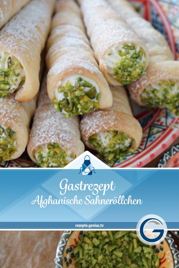 Gastrezept – Afghanische Sahneröllchen • Genius Rezeptwelt