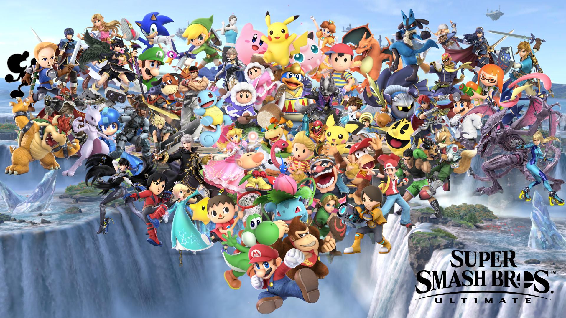 Super Smash Bros Ultimate Fighter Collage Smash Bros Super Smash Bros Nintendo Super Smash Bros
