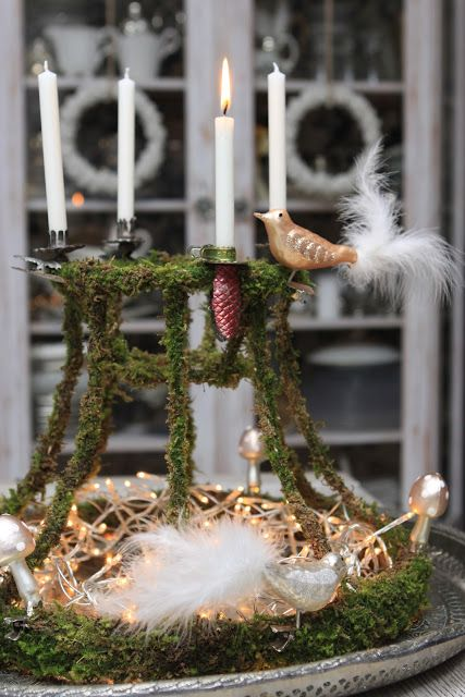 Moss glued to wire lampshade frame christmas tables pinterest moss glued to wire lampshade frame greentooth Choice Image