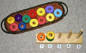 Teaching toddlers to count: 1 to 5 workjobs and Montessori style tray activities | angathome