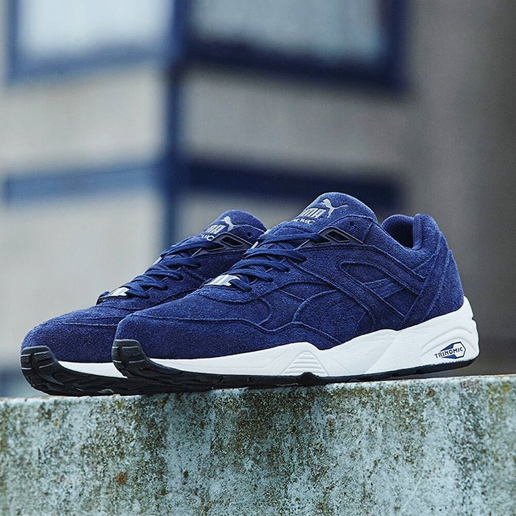 Clothes · Puma R698 Allover Suede: Navy