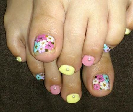 Cool Spring Toe Nail Art Designs, Ideas & Trends 2014 - Cool Spring Toe Nail Art Designs, Ideas & Trends 2014 Spring Toe