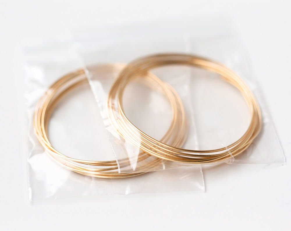 2622_Gold jewelry wire 20 gauge, Gold plated wire 0.8 mm, Half hard ...