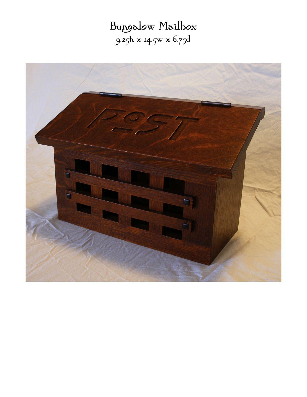 Bungalow Mailbox Mike Devlin Furniture Design Post Box