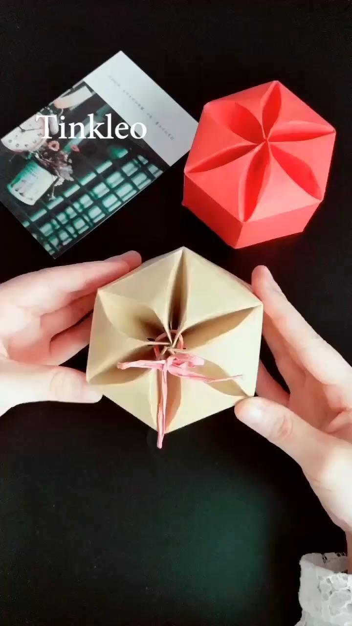 Photo of DIY Kraft Paper Gift Box
