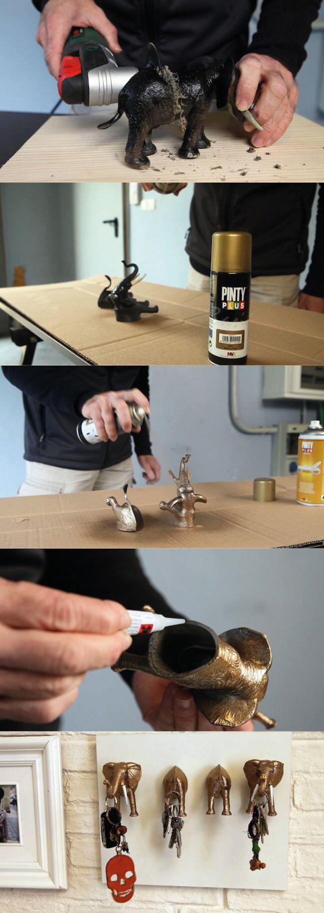 transformamos unos muecos olvidados en un colgador de llaves con pintura en spray pintyplus y el equipo de bricomana shakingcolors briconsejo brico - Bricomania Pintura