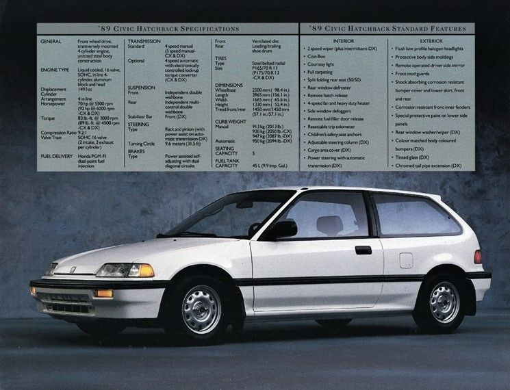 Honda Civic Hatchback 1989 1991 Autos