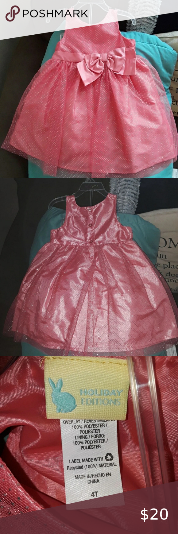 Kids Toddler Pink Dress Toddlers 4t Easter Edition Pink Dress With Big Pink Bow Cute For Any Formal Event Wedding Ea Pink Toddler Dress Pink Dress Dresses [ 1740 x 580 Pixel ]