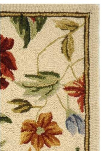 Kinchen Hand Hooked Wool Ivory Area Rug Area Rugs Rugs Floral Area Rugs